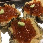 天ぷらとワイン小島 3号店 のり天いくらのカナッペ