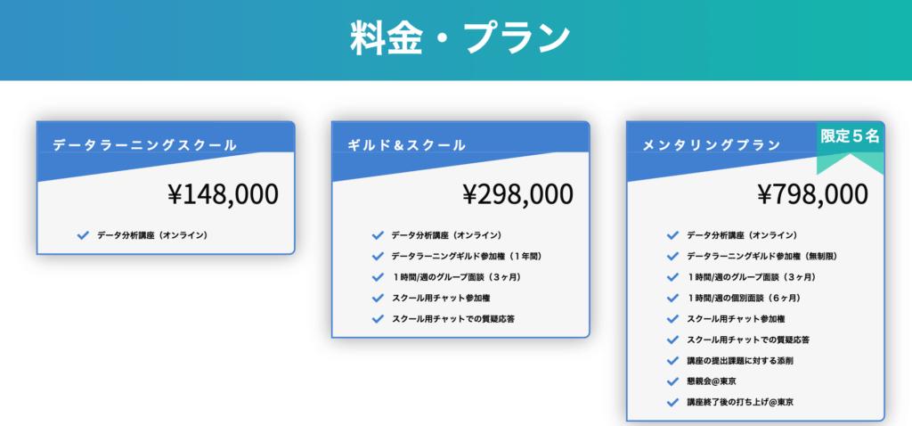 データラーニングスクール 料金
